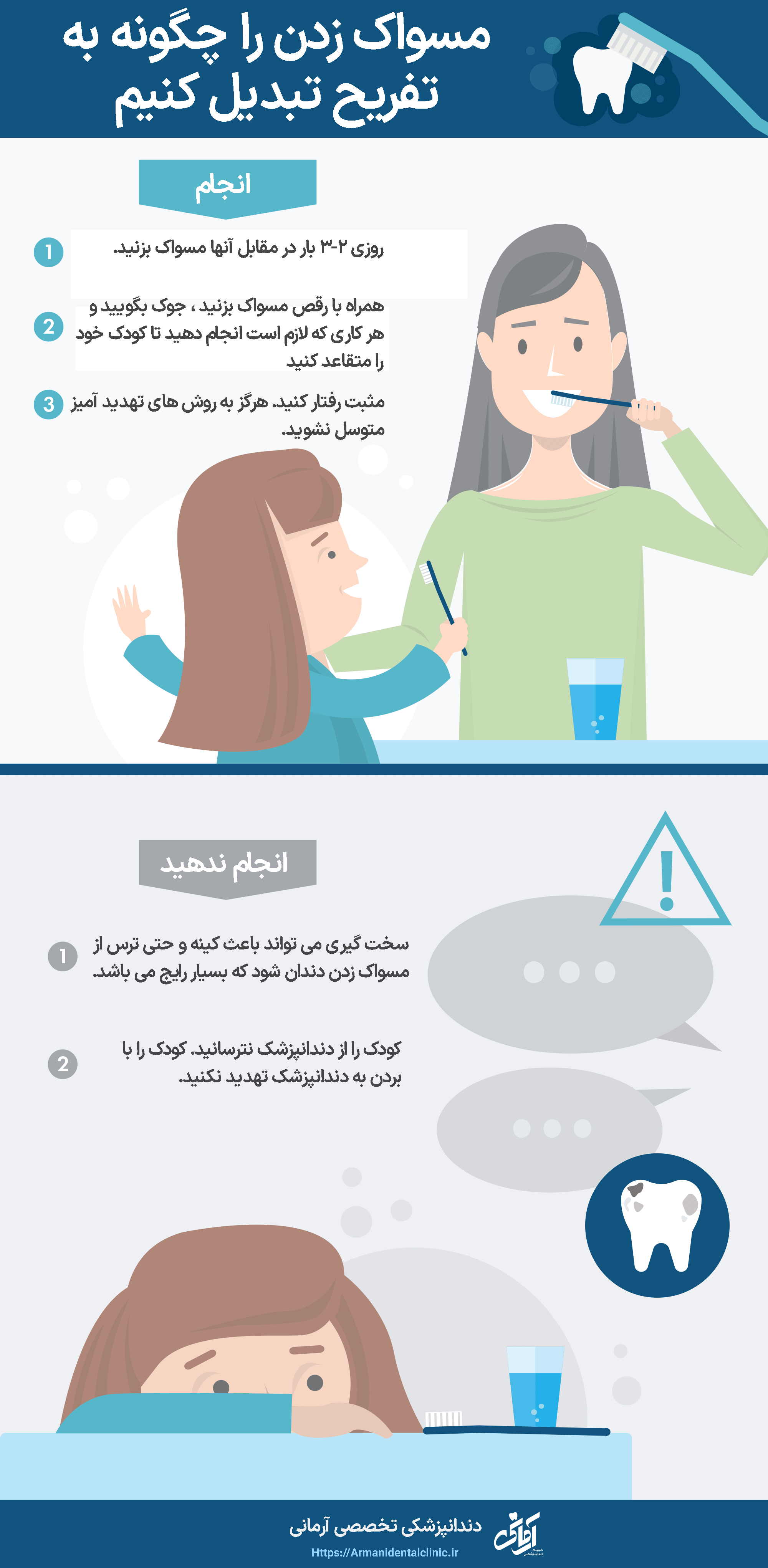 مسواک زدن را چگونه به تفريح تبديل كنيم